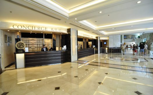 East Asia Apartment complex adjoins the Regal International East Asia Hotel and Shanghai International Tennis Center Club. The complex comprises a commercial residence