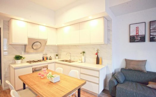 Bright 1BR Apartment w/Floor Heating nr Jiangsu Road Metro station HAO Realty Shanghai HAOEC011179